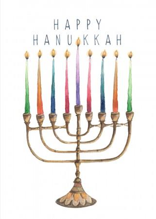 Hanukkah Menorah Image