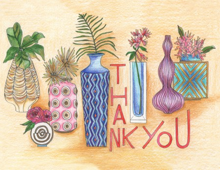 Vases Of Thank You Image