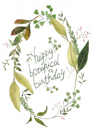 Botanical Birthday Image