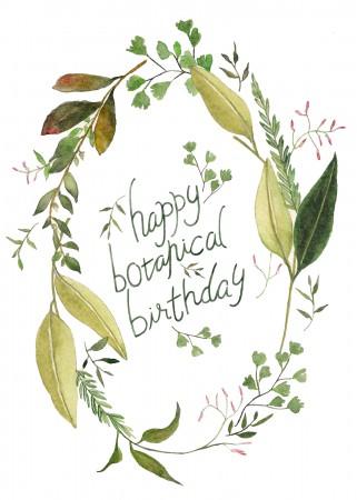 Botanical Birthday Image
